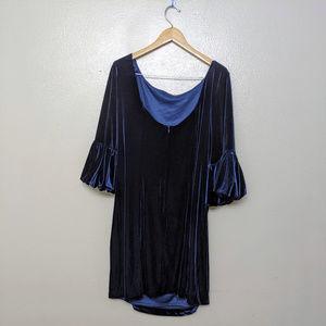 Eliza J Women's Bubble Sleeve Velvet Sheath Dress
